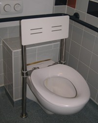 Con-Serv Accessible Floor Mounted  WC Backrest