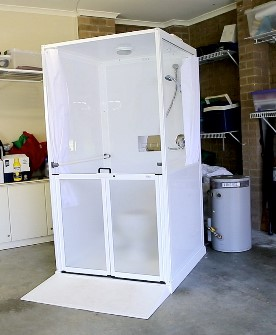 Accessible Portable Toilet Shower System Careport Hire - Portable bathroom with shower