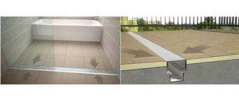 Newline ProFinish Wedge Tile Tray and Channel Drain System