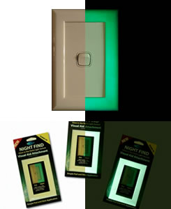 Glow In The Dark Light Switch Surround Assistive