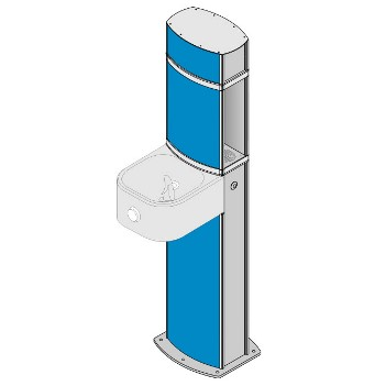 Aquafil Pulse Wheelchair Accessible Water Bottle Refill Stations with Drinking Fountains