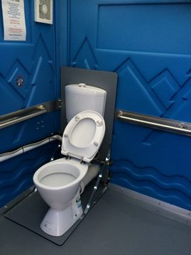 Accessible Bathrooms for Hire